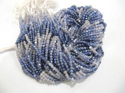 Moonstone AB Coated Blue Shaded Beads