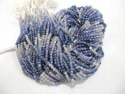 Moonstone AB Coated Blue Shaded Beads