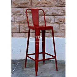 Red Color Bar Chair
