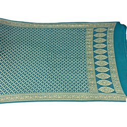 All Over Sea Green Color Fancy Design Banarasi Georgette Dupatta