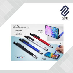 Promotional 3 In 1 Pen With Stylus And Mobile  Stand