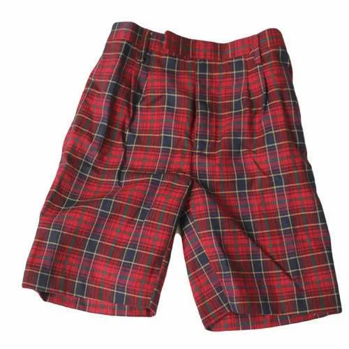 Cotton Check School Half Pant