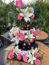 Fan Happy Birthday Bottle Bouquets