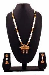 SPJ014 Pearls Beads Antique Gold Taweez Pendant