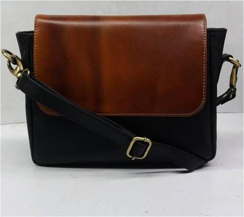 b38bb1e07eef Black N Brown Ladies Leather Handbag   Sling Bag