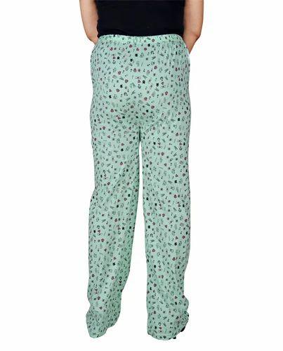 Light Green Color Printed Ladies Pajamas 25d6dce8d