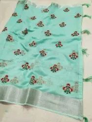 Trendy Linen Saree