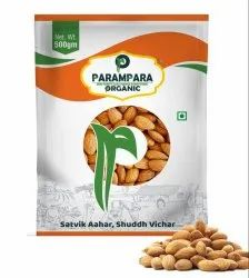 Parampara Organic Almond Nuts (Badam), Packaging Type: Pouch, Packaging Size: 50 g to 500 g