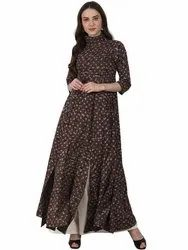 Ladies Brown Long Kurti