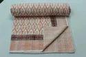 Block Print Kantha Bedcover