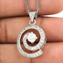 Amazing Design 925 Sterling Silver Diamond Pendant