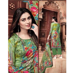 Party Wear 7.5 M Designer Cotton Suit Material
