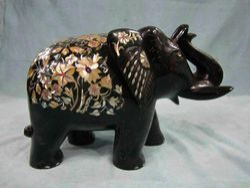 Stone Elephant Figurine