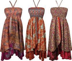 Poly Silk Halter Dress