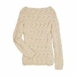 9b0ba724cd0 Cream Ladies Woolen Sweater