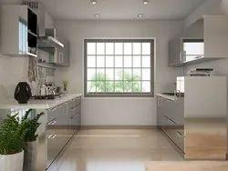 Plywood Parallel Kitchen
