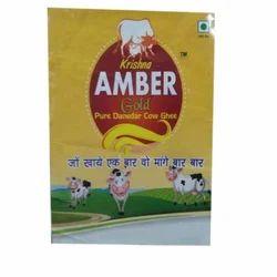 Krishna Amber Gold Danedar Pure Ghee, Packaging: 1 kg