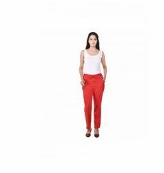Red Red Cotton Slug Pant