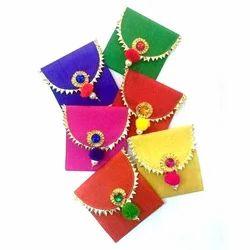 Multicolor Plastic Coated Sheet Gift Envelope