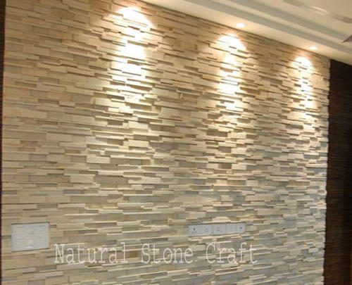 Stone Designer Elevation Tiles Size 150x600 Mm