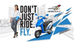 Blue Honda Activa I Scooter