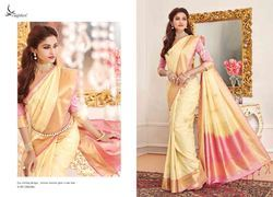 Yellow Color Art Pattu Silk Saree