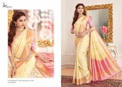 Yellow Color Art Pattu Silk Saree