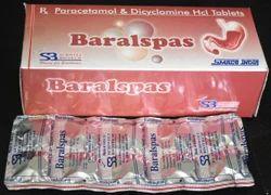 Dicyclomine Hydrochloride Paracetamol Tablets