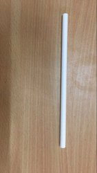Eco Friendly White Paper Straw, Size: 10mm dia - 20cms, 100pcs