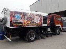 Truck Mounted Heavy Duty Road Sweeping Machine