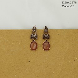 Antique Designer Hanging Stone Earrings