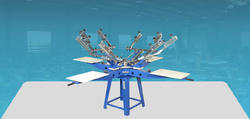 Screen Printing Machine 4 Color Without Micro Registration