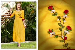 Cotton Casual Wear Ladies Rayon Kurti