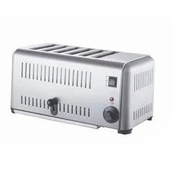 3.24 Kw Stainless Steel Commercial Pop Up Toaster, Number of Slices: 6