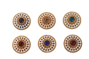 Multicolour Enamel Coat Buttons