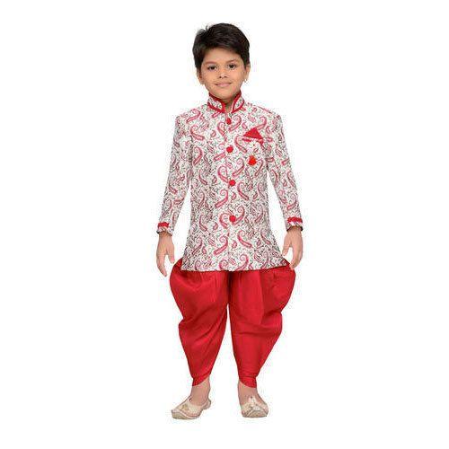 0e59b5af0 Coffee And Blue Cotton Kids Dhoti Sherwani Set For Boys, Rs 695 /set ...