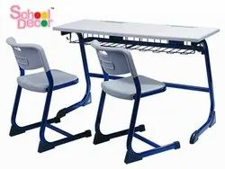 School Decor Fasia Dual Desk, For Schools And Colleges