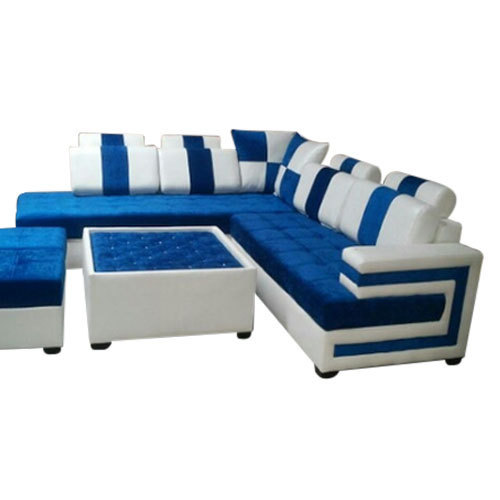 Blue And White Sofa Set