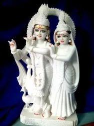 White Marble Radha Krishna Standing Statue