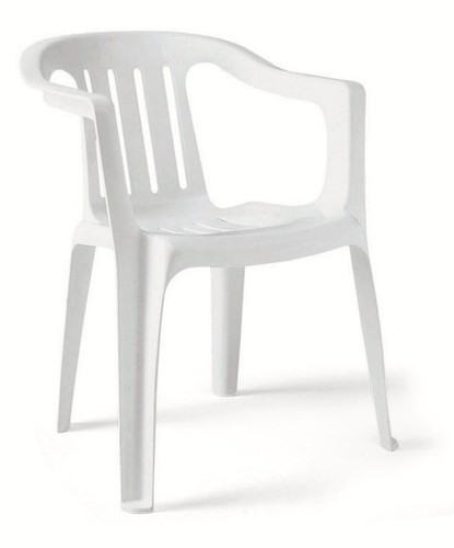 Monobloc Chair: 81*44*44 Cm White And Brown And Black Monobloc Chair, Rs