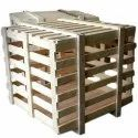 Square Heavy Duty Wooden Pallet Box, For Shipping, Box Capacity: 1-200 Kg