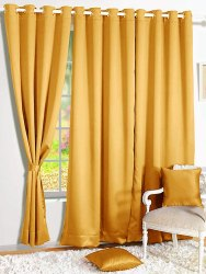 Ketsaal Room Darkening Blackout Plain Faux Silk Solid, for Home