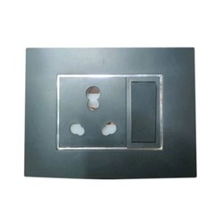 6 Ampere ON/OFF 6A Grey Rocker Modular Switch, Switch Size: 1 Module, Module Size: 1 module