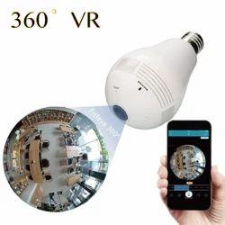 SmartCam Newest Product 360 Degree Panoramic Security Wireless IP WiFi Hidden CCTV Light Bulb Camera, SC-01