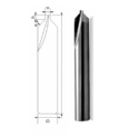 Two Straight Flute Cutter With Angle