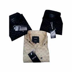 Mens Cotton Printed Regular Fit Shirt, Size: M - XL