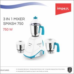 IMPEX - 3 in 1 Mixer Grinder - Smash 750
