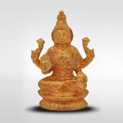 64833c4d6c7 Brass Mantra Gold Plated Lakshmi Statue