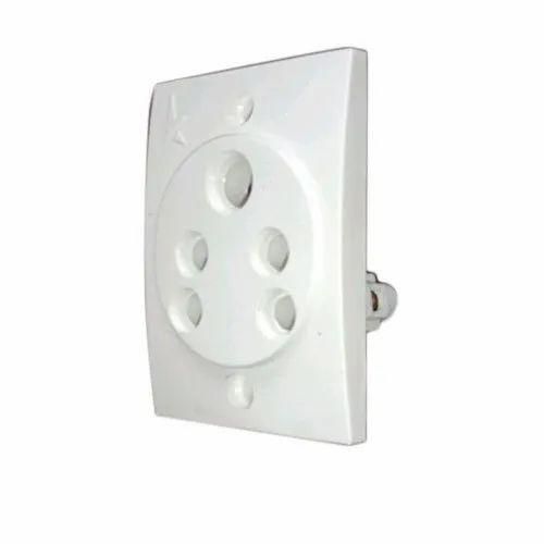 Modular White Electric Socket