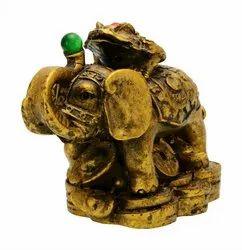 Kesar Zems Feng shui Elephant with Frog